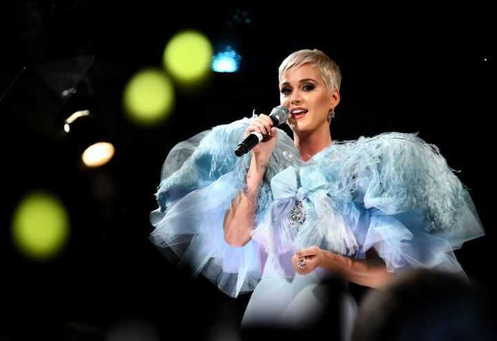 Katy Perry performs at the amfAR Gala Los Angeles 2018 on Oct. 18 in Beverly Hills.