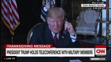 Trump Rants About Khashoggi, Judges, Borders In Thanksgiving Call With Troops