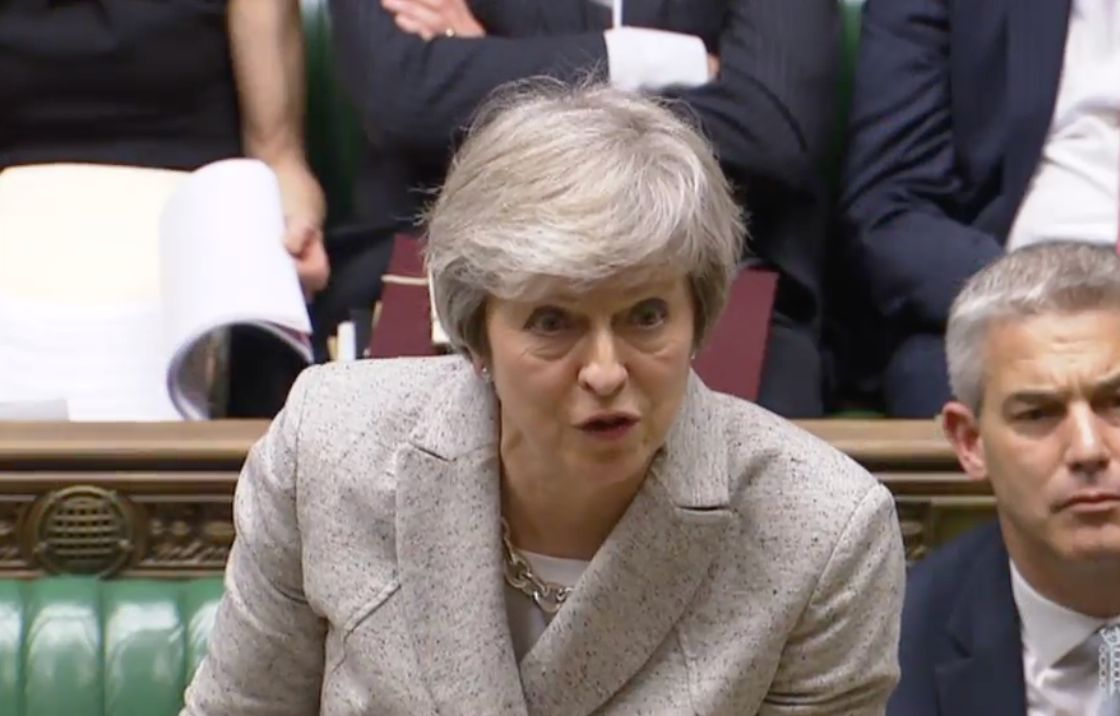 The PM in the House of Commons on Thursdayx