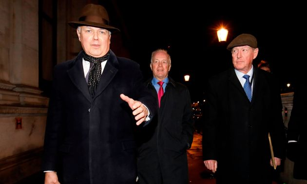 Iain Duncan Smith, Peter Lilley and David Trimble leave