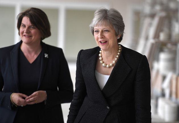 DUP leader Arlene Foster and Theresa May in