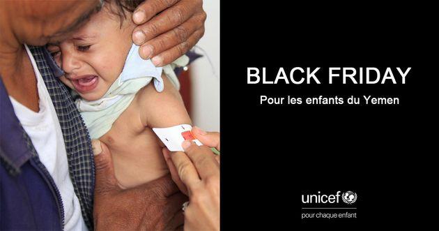 Black Friday: L'Unicef lance une collecte de fonds pour les enfants du