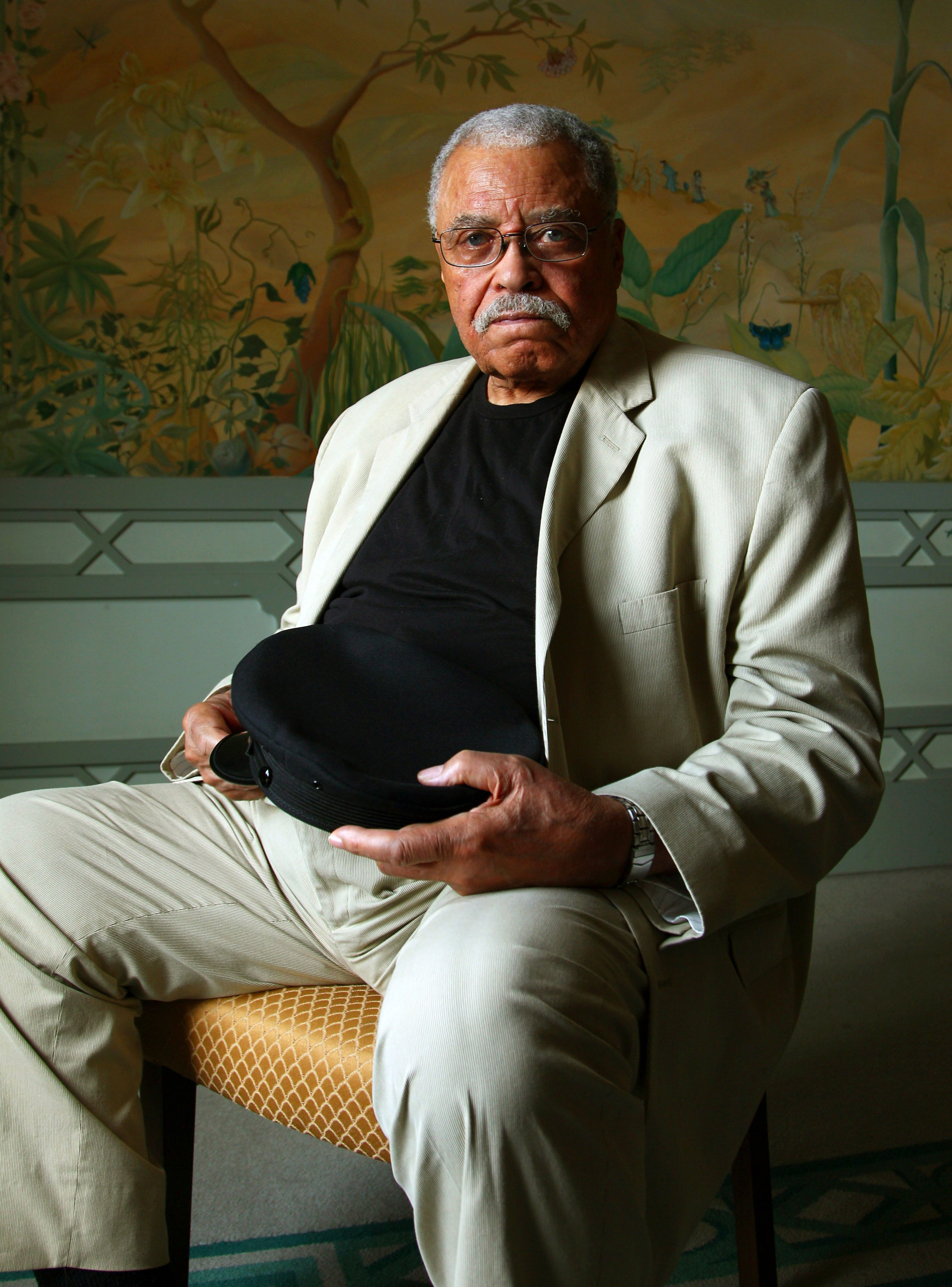 "FILE - In this Jan. 7, 2013 file photo, actor James Earl Jones poses for photos in Sydney, Australia. James Earl Jones will be recognized for his voiceover career. Jones who is currently starring on Broadway in a revival of ""You Can't Take It With You"" will be honored with his award Sunday night at the Museum of the Moving Image. (AP Photo/Rick Rycroft, File)"