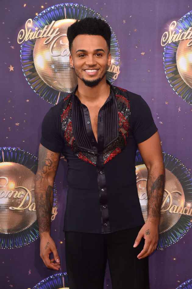 Aston at last year's 'Strictly' red carpet