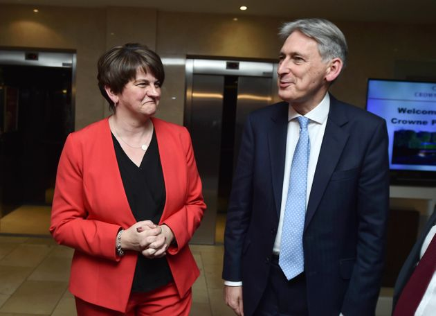 Hammond met with Foster at the DUP conference on