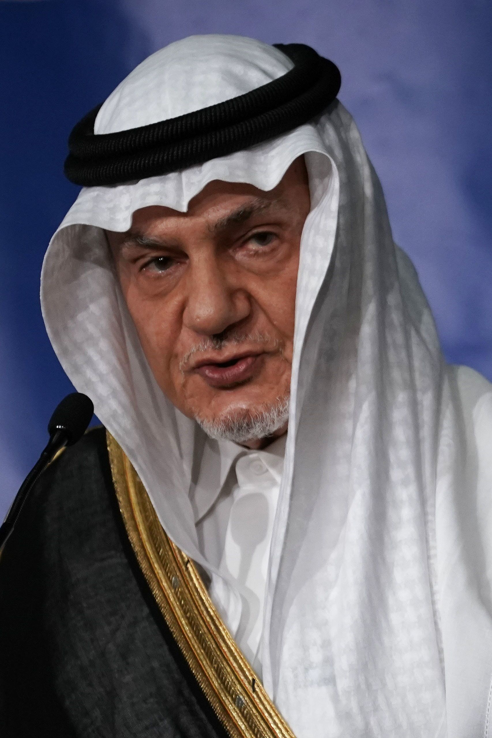 WASHINGTON, DC - OCTOBER 31: Former Saudi Ambassador to the United States Turki Al Faisal Al-Saud speaks during the 27th annual Arab-U.S. Policymakers conference on 'What Paths Forward for America In and With the Arab Region,' hosted by the National Council on U.S.-Arab Relations, October 31, 2018 in Washington, DC. Ambassador Turki Al Faisal Al-Saud delivered keynote address on 'How Best to Proceed in the U.S.-Arab Relationship?'  (Photo by Alex Wong/Getty Images)