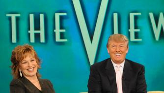 THE VIEW - Donald Trump is a guest on 'THE VIEW,' 10/28/10 (11:00 a.m. - 12:00 noon, ET) airing on the ABC Television Network.   VW10 (Photo by Jeff Neira/ABC via Getty Images) JOY BEHAR, DONALD TRUMP