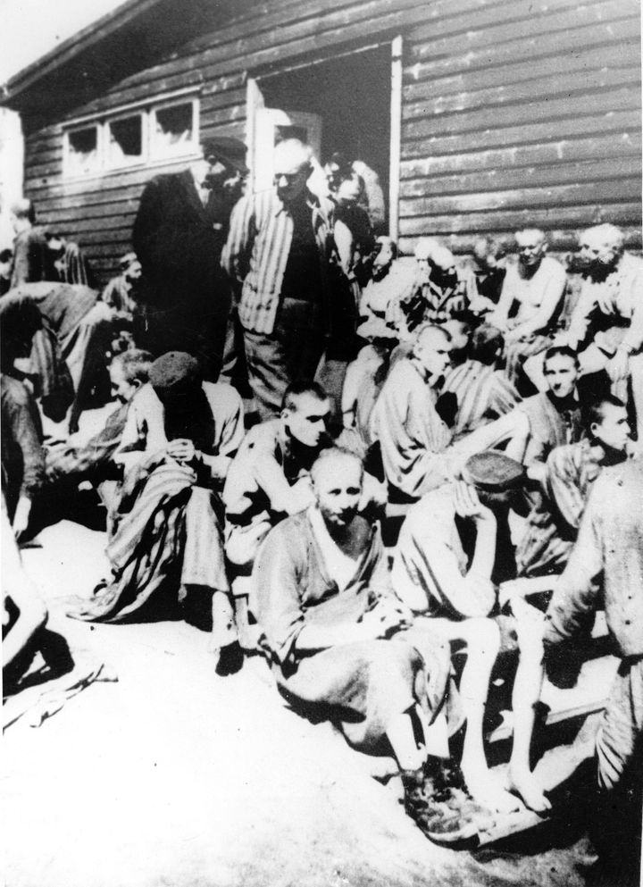 About 95,000 people are believed to have died in the Mauthausen camp system. This undated photograph taken outside the camp's