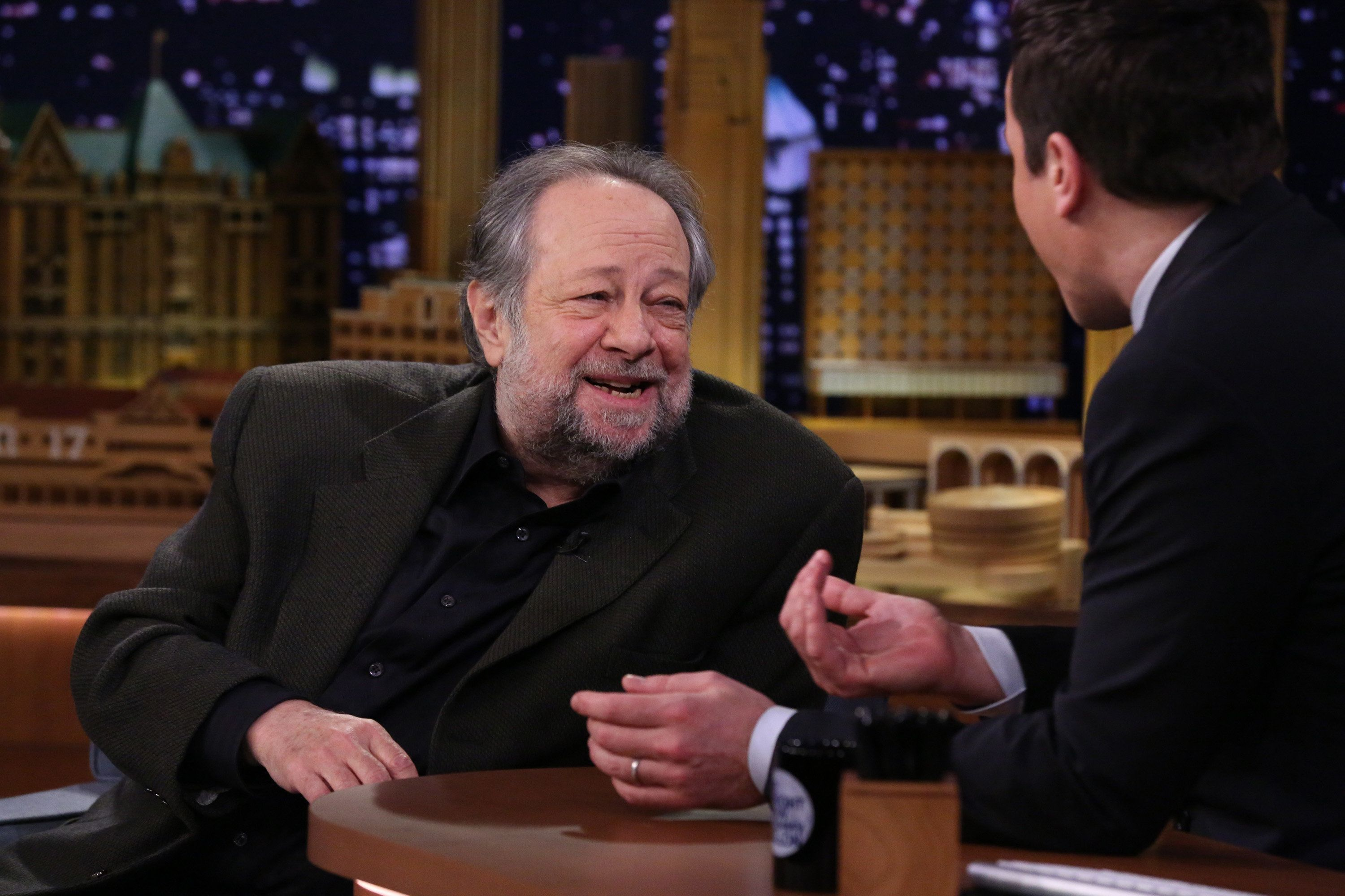 Legendary magician Ricky Jay chats with late-night host Jimmy Fallon on March 31,