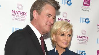 Joe Scarborough and honoree Mika Brzezinski attend the2018 Matrix Awards presented by New York Women in Communications on April 23, 2018 at the Sheraton New York Hotel in New York, New York, USA.