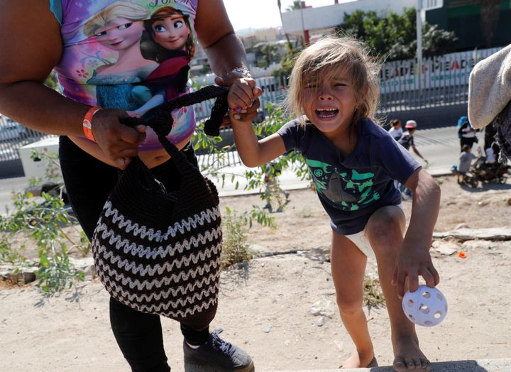 Children gassed at border