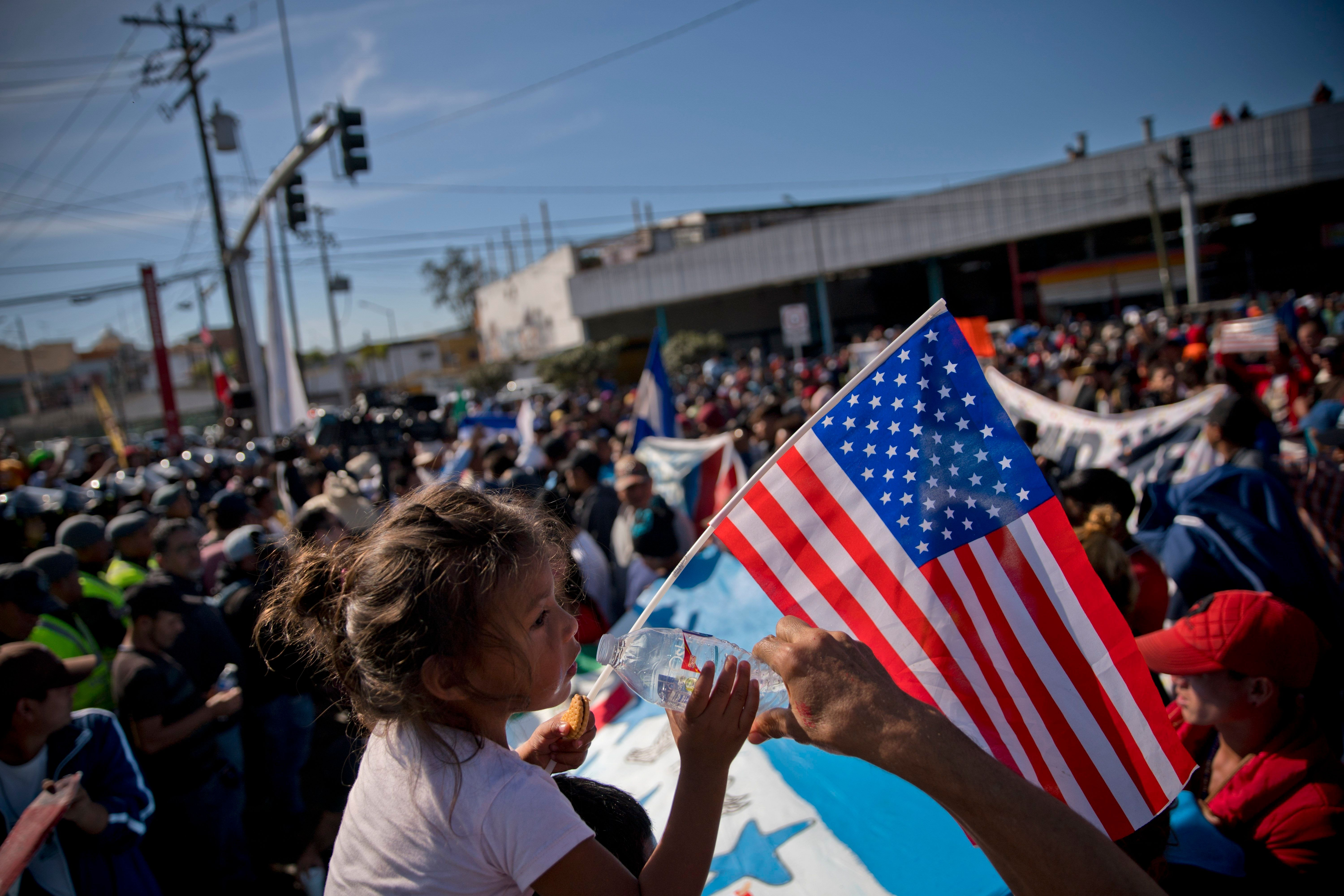 Migrants in the caravan at the U.S.-Mexico border in Tijuana were met with violence on Sunday.