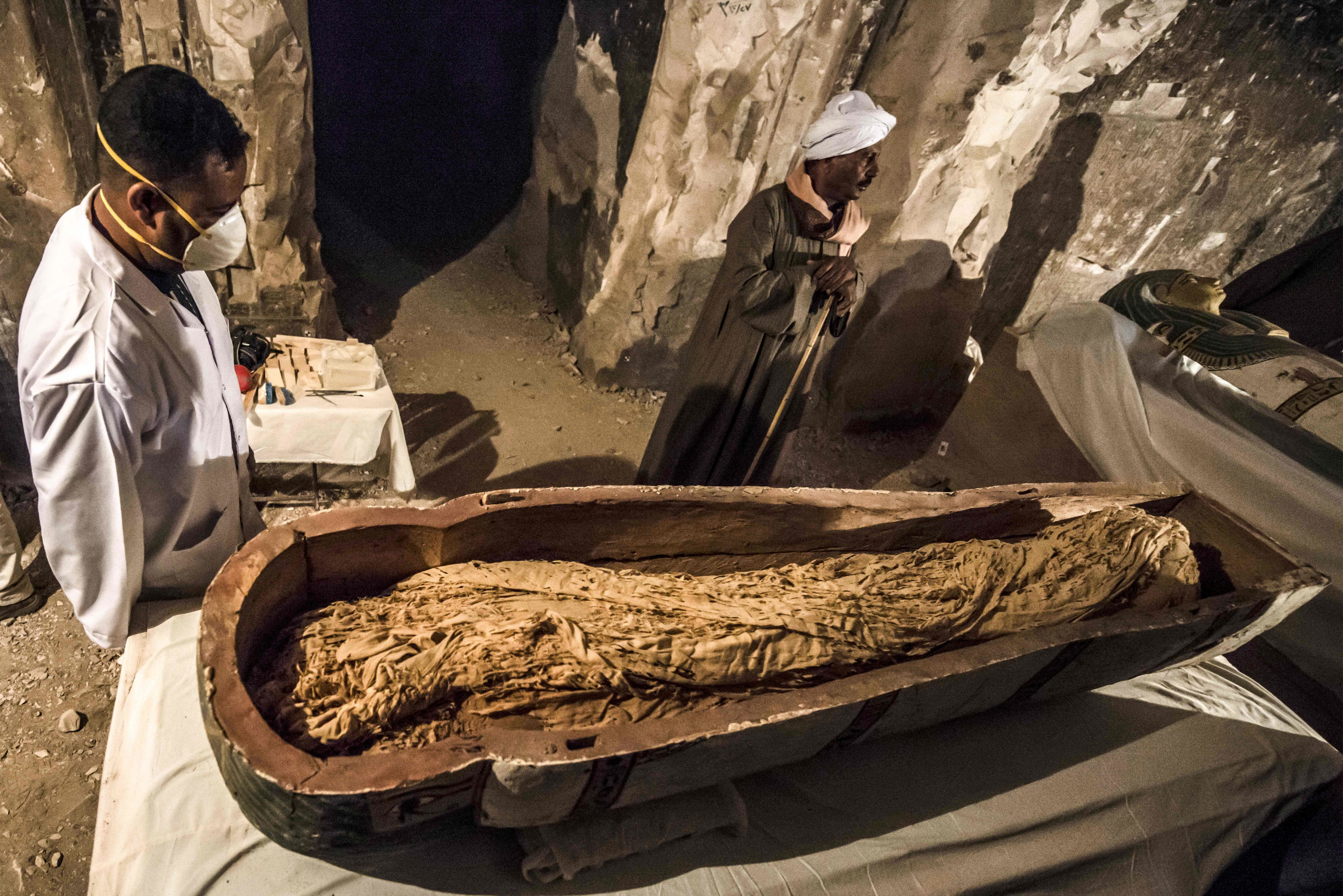 3,000-Year-Old Mummy Revealed As Egyptian Officials Open