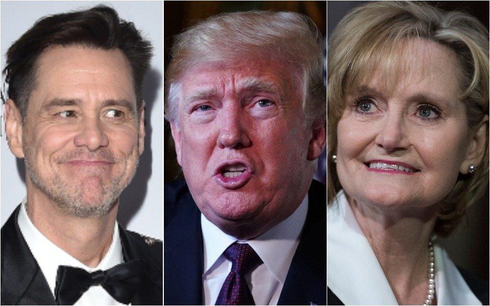 Jim Carrey, Donald Trump, Cindy Hyde-Smith
