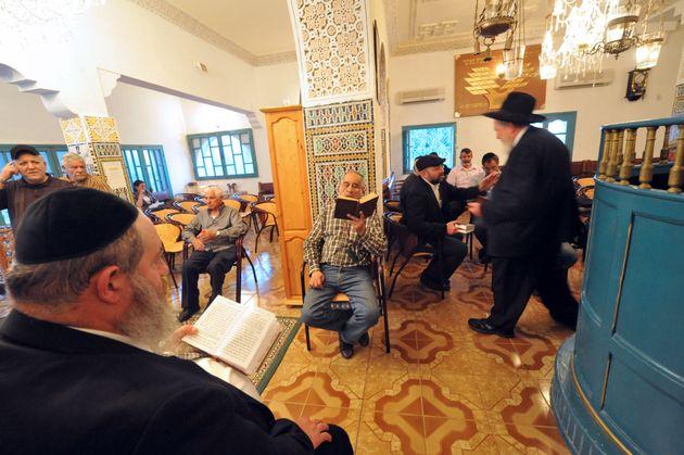Des pèlerins juifs près de Ouezzane, Maroc,
