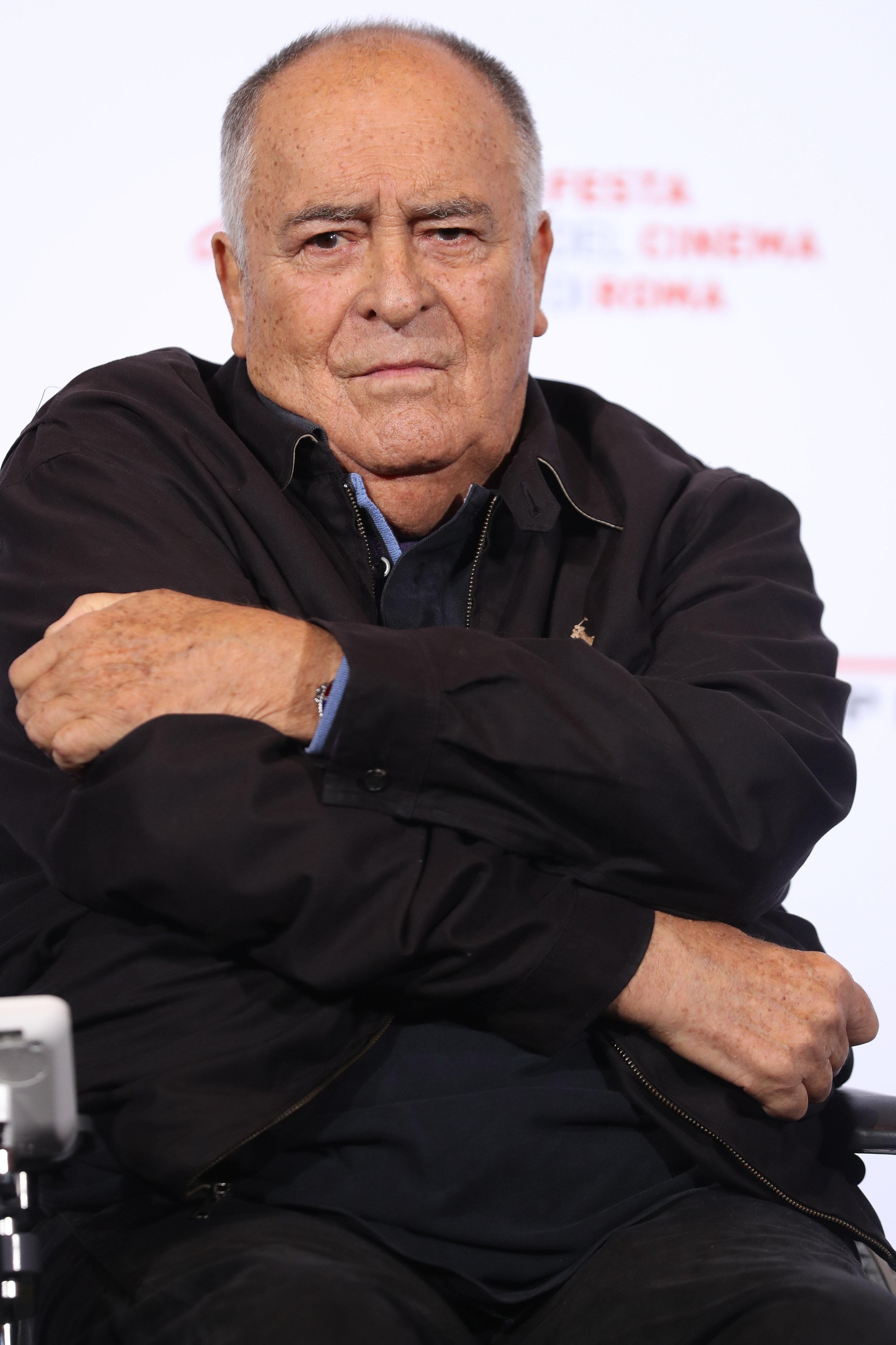 Bernardo Bertolucci attends a photocall during the 11th Rome Film Festival at Auditorium Parco Della Musica on October 15, 20