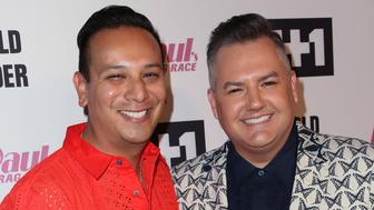 LOS ANGELES, CA - JUNE 08:  TV personality Ross Mathews (R) and Salvador Camarena attend VH1's 'RuPaul's Drag Race' Season 10 Finale at The Theatre at Ace Hotel on June 8, 2018 in Los Angeles, California.  (Photo by David Livingston/Getty Images)
