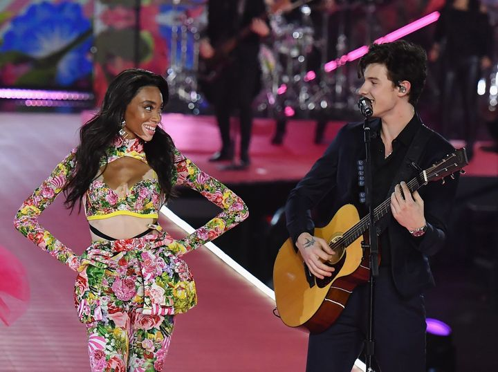 Mendes performs at the 2018 Victoria's Secret Fashion Show in New York City.