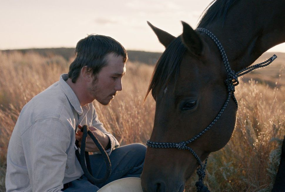 """The Rider"" takes place amid poverty but finds great riches in its South Dakota vista. Our taciturn but sensitive hero (Brady"