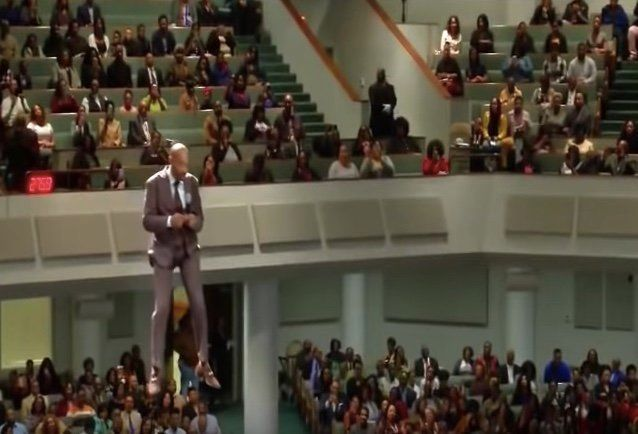 Rev. Orr was preaching a sermon the entire way down.