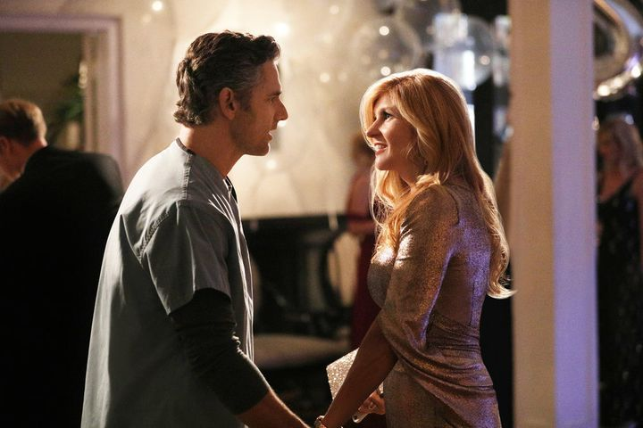 "Eric Bana and Connie Britton in Bravo's ""Dirty John."""