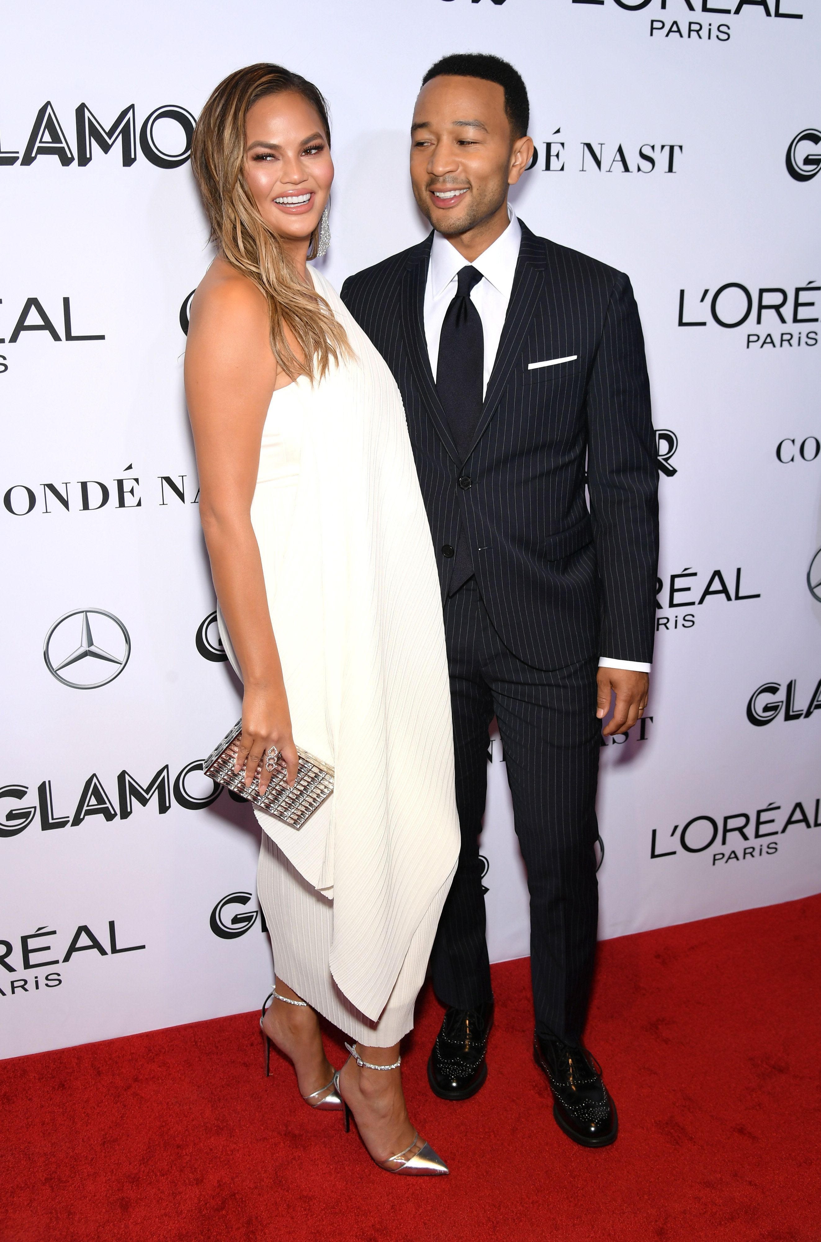 NEW YORK, NEW YORK - NOVEMBER 12: Chrissy Teigen and John Legend attend Glamour Women of the Year Awards 2018 at Spring Studios on November 12, 2018 in New York City. (Photo by Mike Coppola/WireImage,)