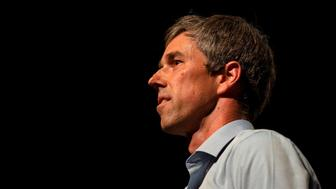 Texas Representative and Senatorial Democratic Party Candidate Beto O'Rourke delivers a speech at the University of Texas in El Paso, Texas, on November 5, 2018, the night before the U.S. midterm elections. - In traditionally Republican Texas, popular Democrat Beto O'Rourke is trying to dethrone Senator Ted Cruz. (Photo by Paul Ratje / AFP)        (Photo credit should read PAUL RATJE/AFP/Getty Images)