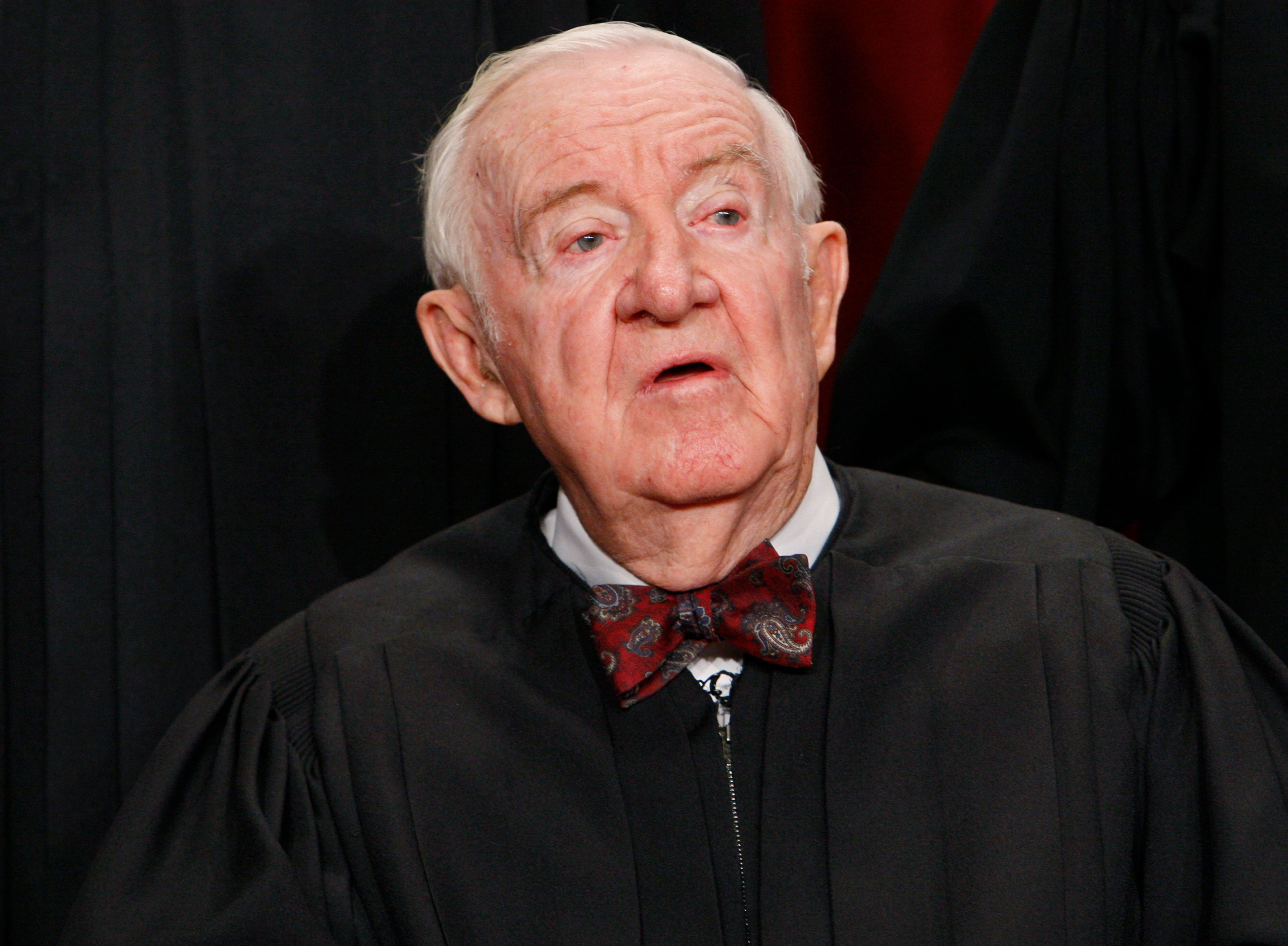 Justice John Stevens served on the Supreme Court from 1975 to 2010.