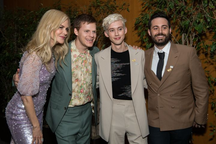 """""""I'm incredibly ambitious as a writer. I'm not going to do the expected,""""Conley (right, with """"Boy Erased"""" s"""
