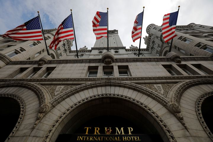 Trump International Hotel in Washington was accused of unfair competition against neighboring businesses.
