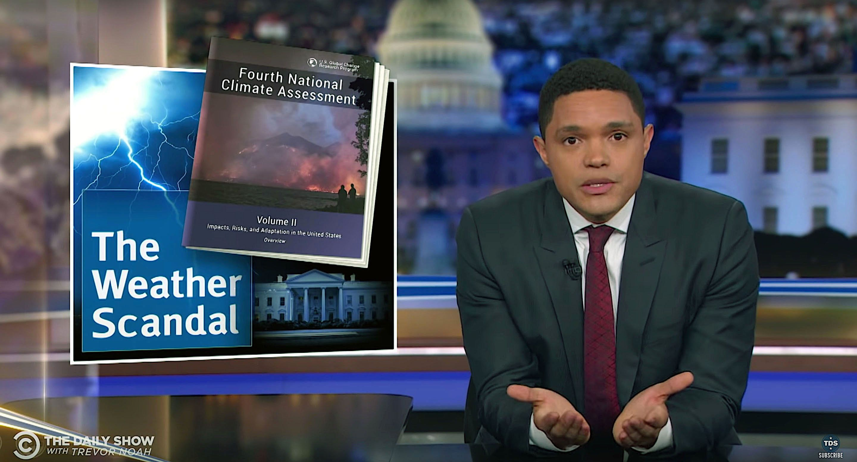 Trevor Noah discusses President Donald Trump's reaction to the federal government's climate report.