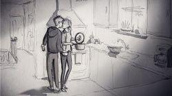 아내와 아이들을 그린 남편의 작품은 사랑과 생생한 감정이 넘친다