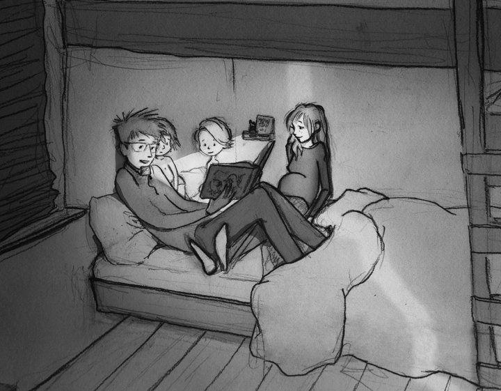 """""""애들 침대에 더 밝은 독서등을 놔줘야겠어"""""""