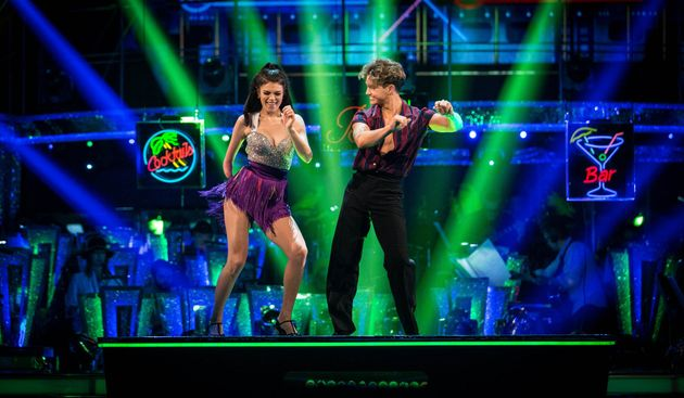 Lauren and AJ on the 'Strictly' dance