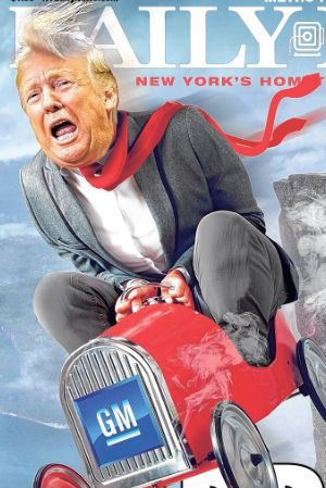Trump Drives Off A Cliff In Biting New York Daily News Cover