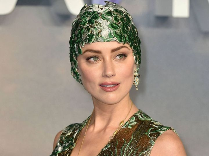 """Amber Heard attends the world premiere of """"Aquaman"""" in London on Nov. 26."""