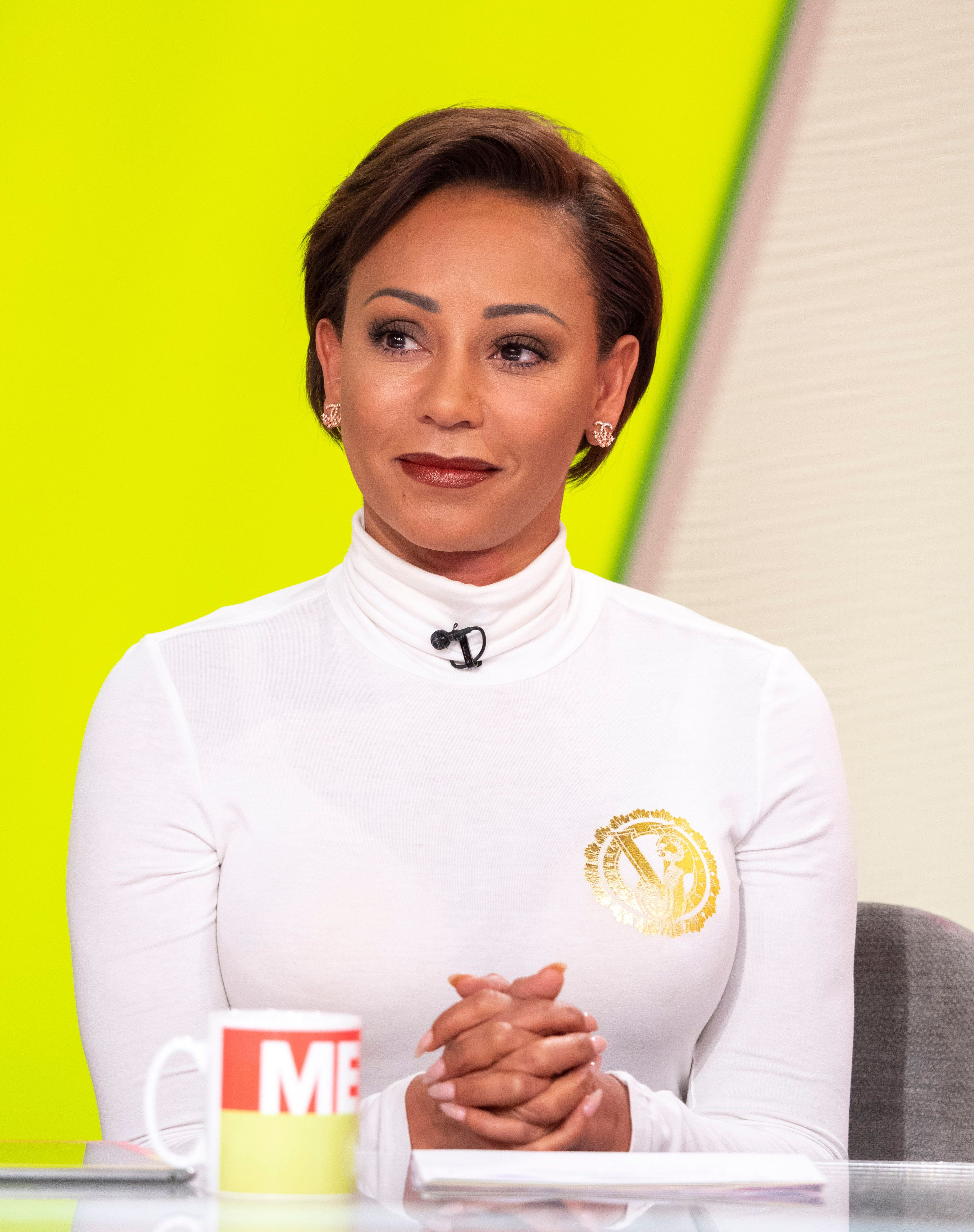 Mel B Keeps Stephen Belafonte Tattoo She Had Cut Off Her Body In A Jar At The Top Of Her