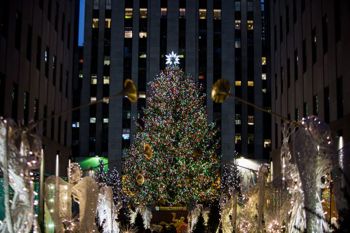 The Rockefeller Center Christmas tree in 2017.