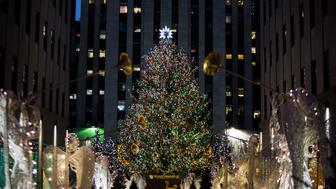 TODAY -- Pictured: Rockefeller Plaza Christmas Tree on Tuesday, Tuesday 26, 2017 -- (Photo by: Nathan Congleton/NBC/NBCU Photo Bank via Getty Images)