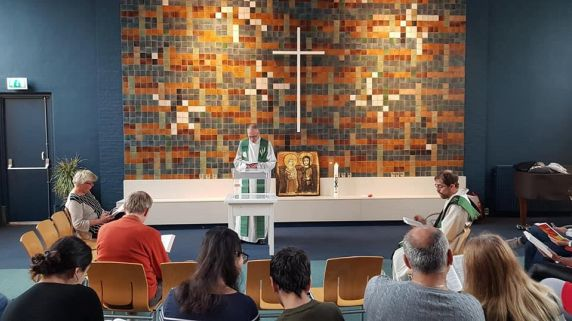Worship services at Bethel, a church and community center in the Netherlands, have been going on nonstop since Oct. 26.