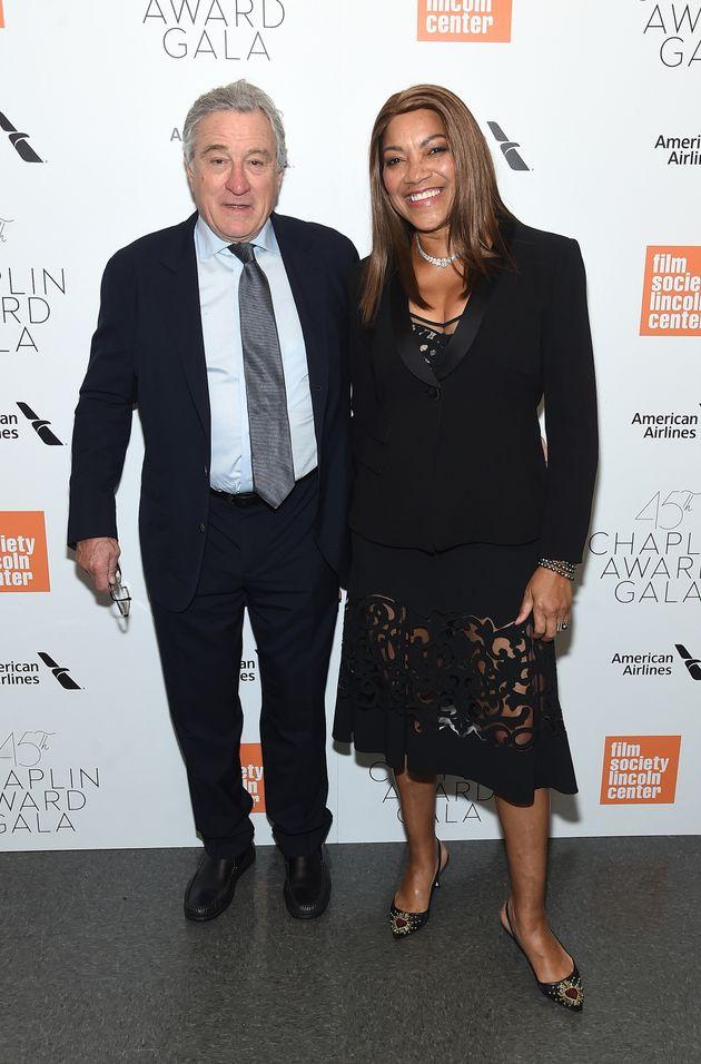 Robert De Niro and Grace Hightower at the Chaplin Award Gala in New York City on April 30.This...