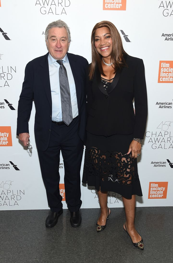 Robert De Niro and Grace Hightower at the Chaplin Award Gala in New York City on April 30. This month multiple outlets r