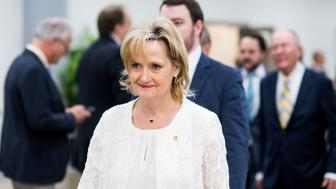UNITED STATES - JUNE 14: Sen. Cindy Hyde-Smith, R-Miss., leaves the Capitol after a vote on Thursday, June 14, 2018. (Photo By Bill Clark/CQ Roll Call)