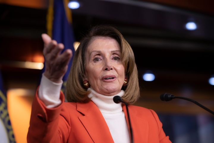 House Minority Leader Nancy Pelosi (D-Calif.) addresses reporters on Nov. 15, 2018. In exchange for CPC support, Pelosi agree