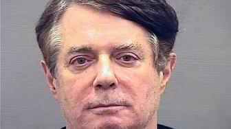 This Thursday, July 12, 2018 photo provided by the Alexandria, Va., Detention Center shows Paul Manafort, who was booked into the William G. Truesdale Adult Detention Center. On Tuesday, Aug. 21, 2018, the longtime political operative who for months led Donald Trump's winning presidential campaign, was found guilty of eight financial crimes in the first trial victory of the special counsel investigation into the president's associates. (Alexandria Detention Center via AP)