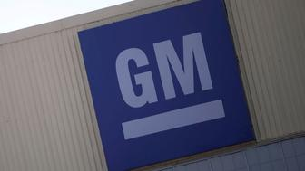 FILE PHOTO: A logo of General Motors is pictured at its plant in Silao, in Guanajuato state, Mexico, Nov. 9, 2017. REUTERS/Edgard Garrido/File Photo