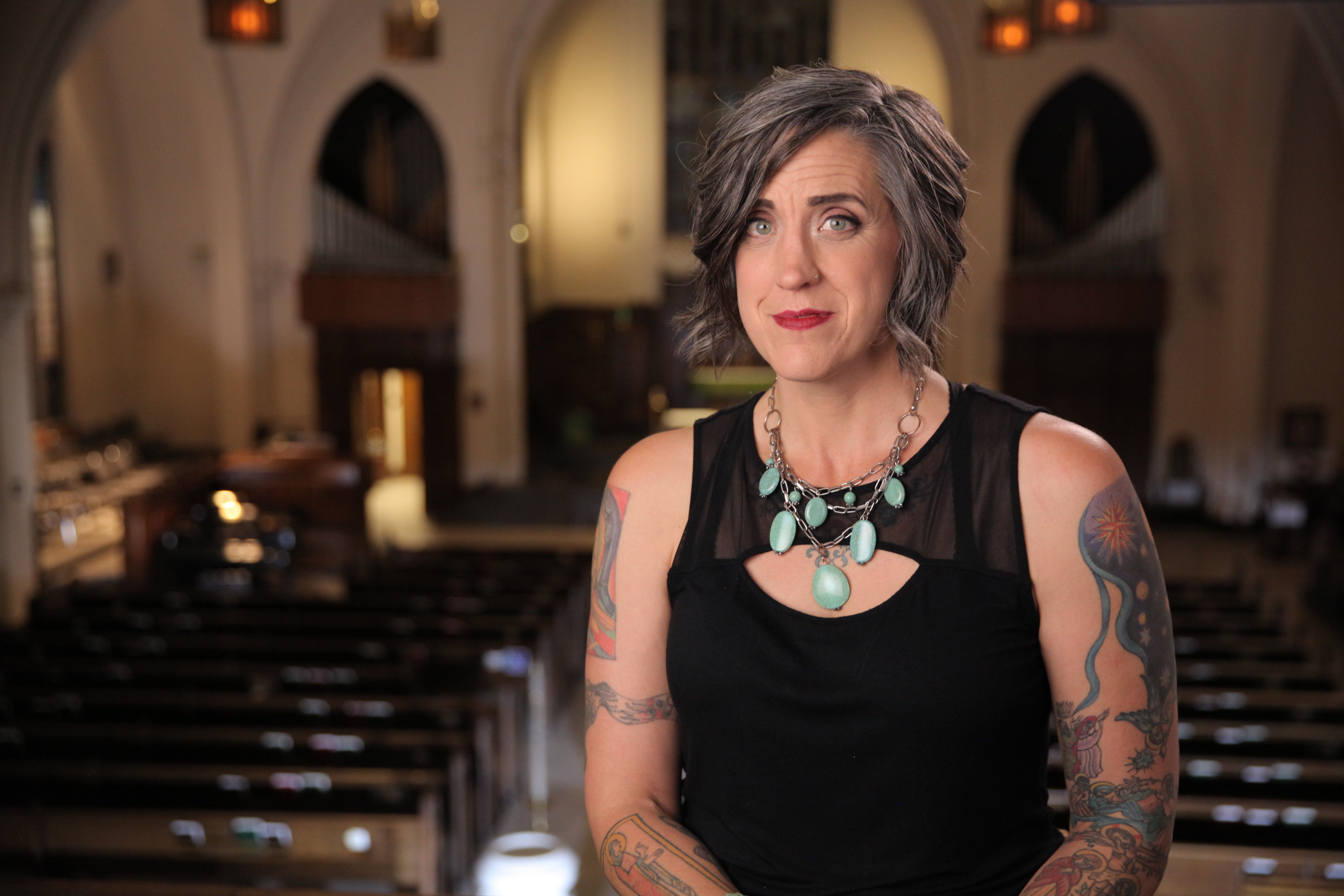Nadia Bolz-Weber is a Christian author and the former pastor of House for All Sinners and Saints, a Lutheran congregation in