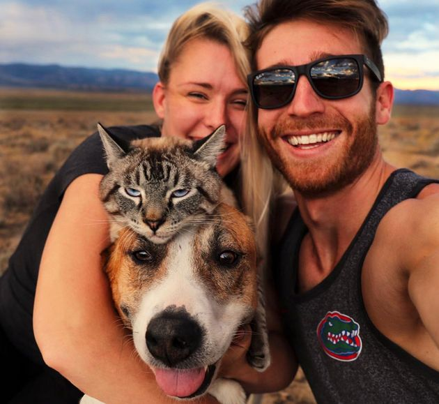 Cynthia Bennett and Andre Sibilsky love to explore the great outdoors with their rescue dog Henry and...