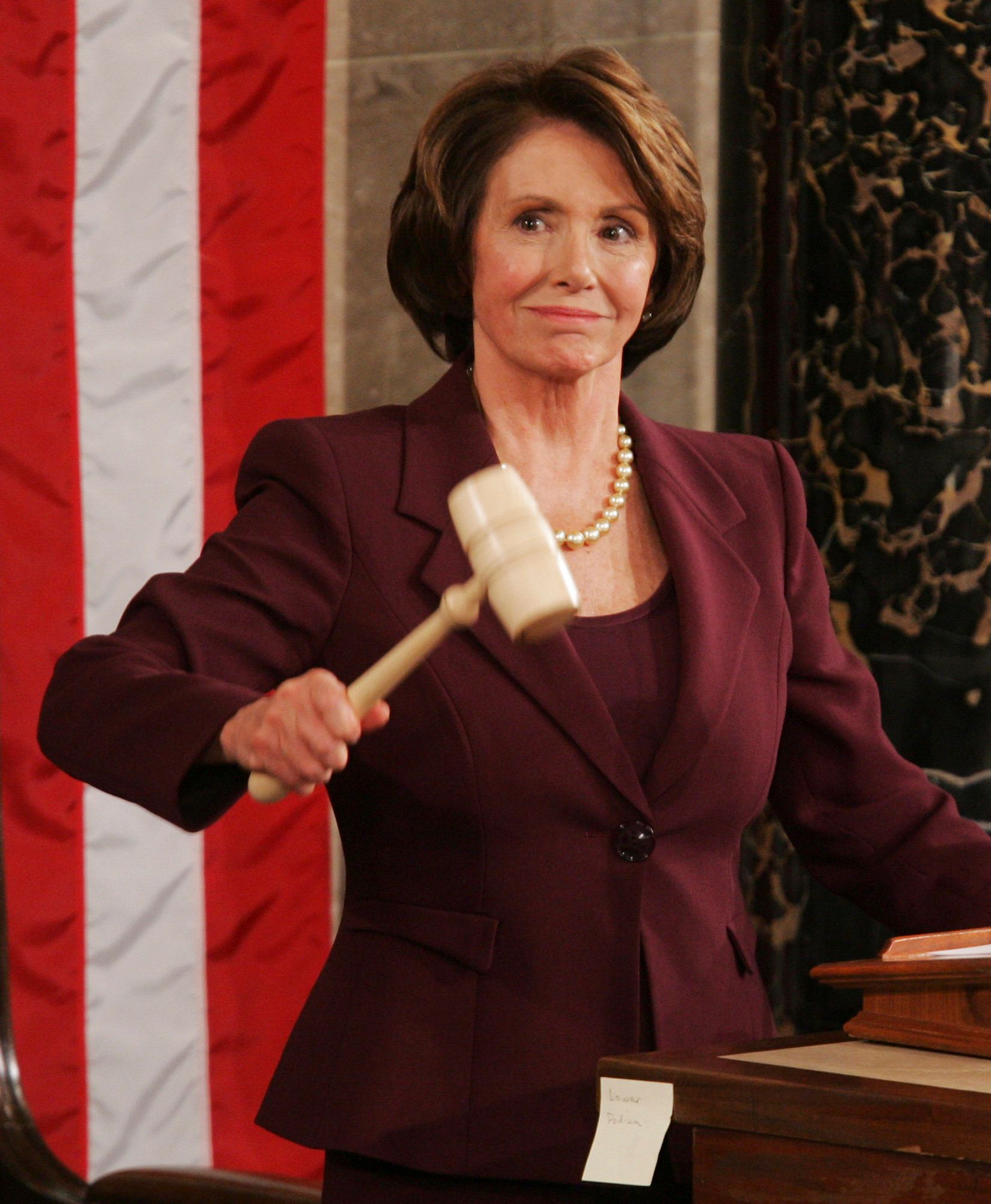 Rep. Nancy Pelosi (D-Calif.) wields the gavel in 2007 as the first woman to serve as speaker of the House.