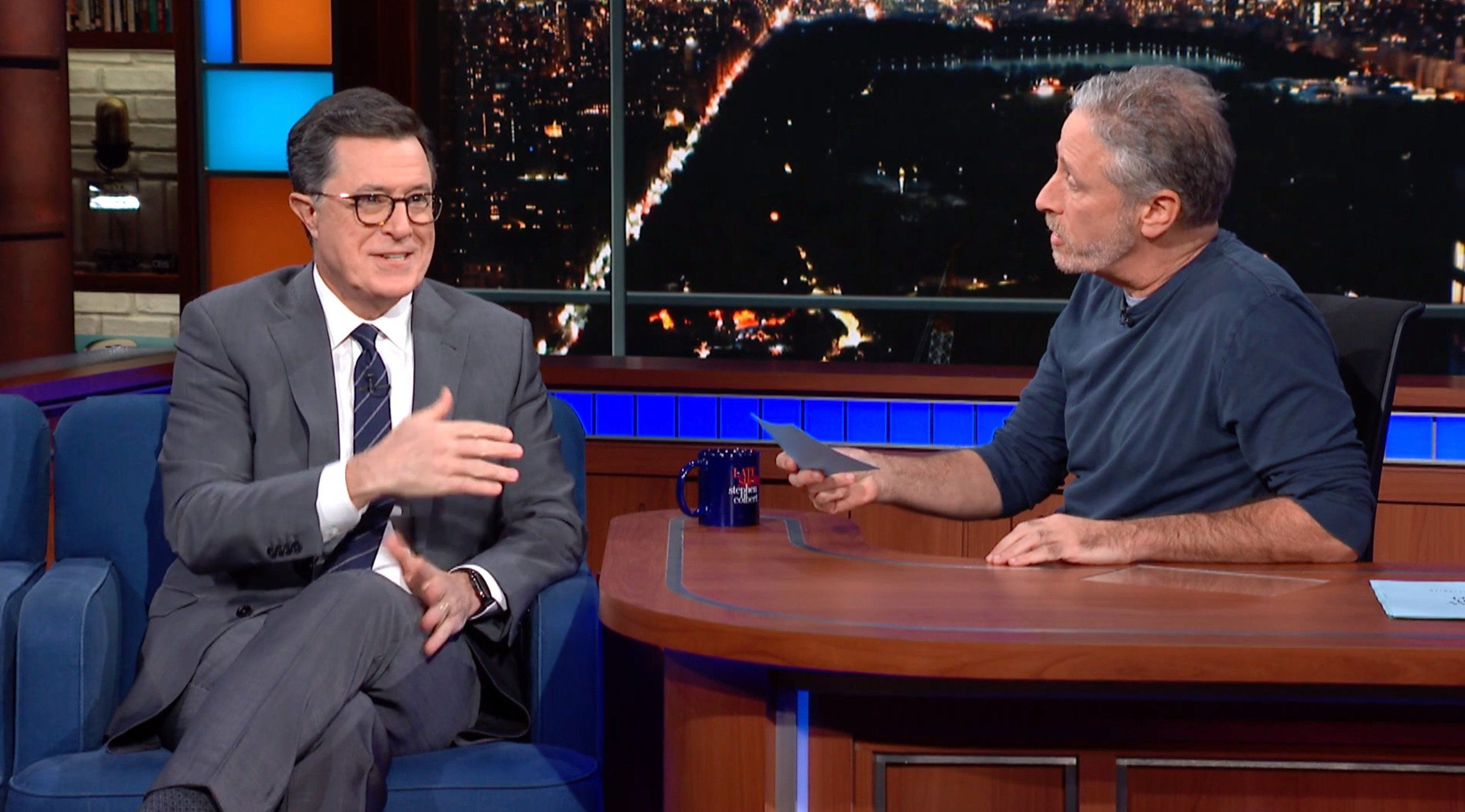 Jon Stewart Has An Incredibly Colorful Description Of How Colbert Handles
